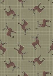 Celtic Coorie Fabric | Stag Country Green
