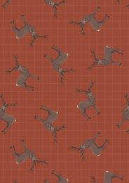 Celtic Coorie Fabric | Stag Dark Tan