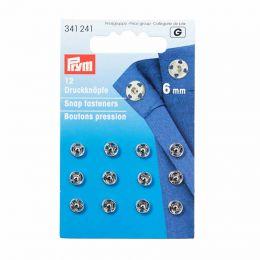6mm Silver Metal, Snap Fasteners | Prym