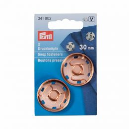 30mm Rose Gold Snap Fasteners, Metal | Prym