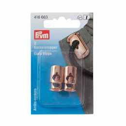 Cord Stops Rose Gold, Two Hole | Prym