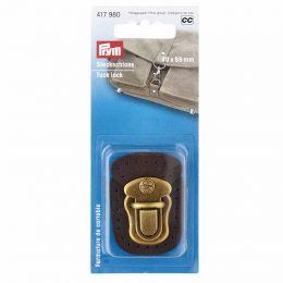 Tuck Lock Leather Brown | Prym