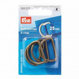 D Rings 25mm | Antique Brass | Prym