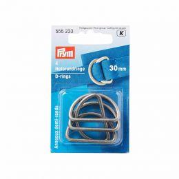 D Rings 30mm | Antique Silver | Prym