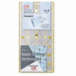Omnigrid Universal Ruler   Inch Scale   4 x 8 inch grid