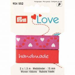Handmade' Ribbon, Pink   Prym Love