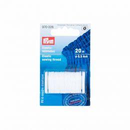 Prym Elastic Cord String Thread 3m Ø 1.5mm Craft Rubber Metallic Silver 971071