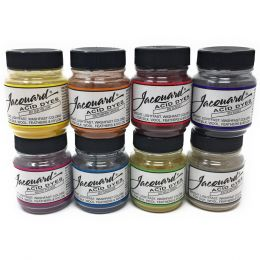 Jacquard Acid Dye Set | 8 Shade Set, 14g Tubs - Brights