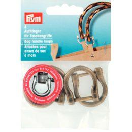 Bag Handle Loops Antique Brass | Prym