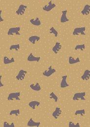 Bear Hug Fabric | Starry Bears Ochre