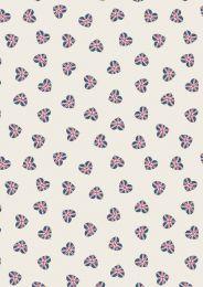 Britannia Fabric | Union Jack Hearts Cream
