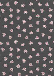Britannia Fabric | Union Jack Hearts Black