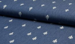 Printed Chambray Fabric | Cactus