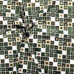Stitch It, Christmas Metallic Fabric | Patch Green