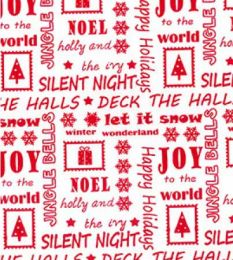 Christmas Fun Fabric | Happy Holidays Red Reverse