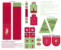 Christmas Glow Fabric | Elf Accessories Green