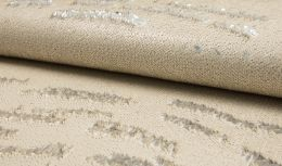 Cocktail Two Tone Sequin Fabric | Light Gold & Silver