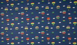 Transport Cotton Fabric | Balloons Navy