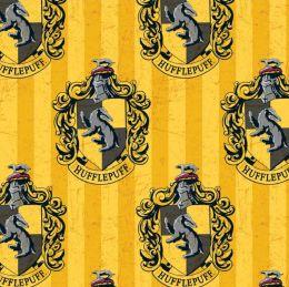 Cotton Fabric Print   Harry Potter Hufflepuff House