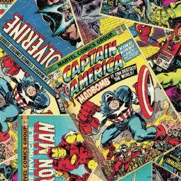 Cotton Fabric Print | Marvel Comic Book