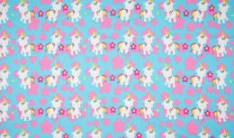 Jersey Cotton Print | Unicorn Blue