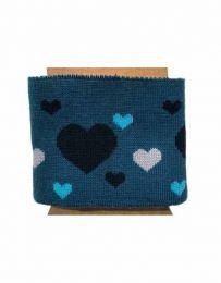 Cuffs Heart Design   Blue