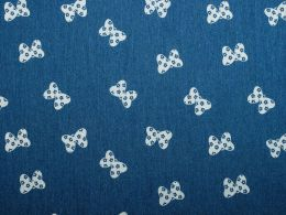 Denim Fabric Print | Butterfly Bow