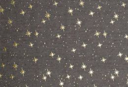 Denim Fabric Metallic Print | Star Light