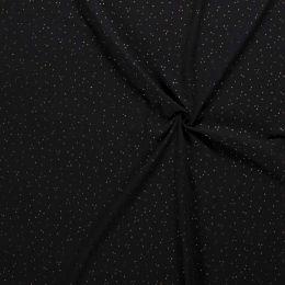 Double Gauze Fabric | Gold Fleck Black