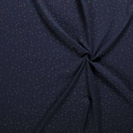 Double Gauze Fabric | Gold Fleck Navy