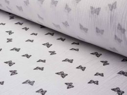 Double Gauze Baby Cloth | Butterfly White