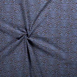 Double Gauze Fabric | Cheetah Indigo