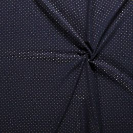Double Gauze Baby Fabric | Gold Star Navy