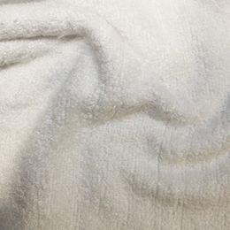 Organic Bamboo Towelling Fabric | White