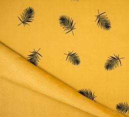 Lizzy Sweatshirt Fabric   Leaf Ochre