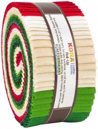 Kona Cotton Fabric Roll Up | Christmas Holiday Palette