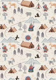 Viking Adventure Fabric | Viking Village Cream