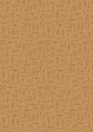 Viking Adventure Fabric | Runes Ochre