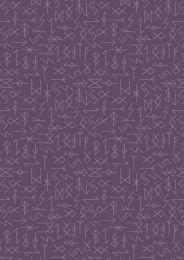 Viking Adventure Fabric | Runes Purple