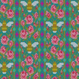 Alison Glass Handiwork | Beadwork Peacock