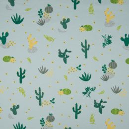 Jersey Cotton Fabric | Desert Flora Pale Blue