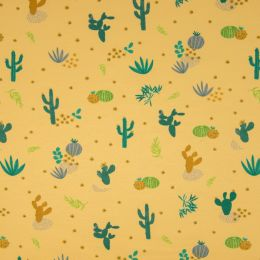 Jersey Cotton Fabric | Desert Flora Yellow