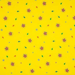 Jersey Cotton Fabric | Flower Yellow