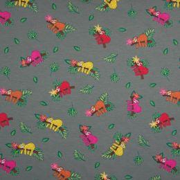 Jersey Cotton Fabric | Sloth Grey