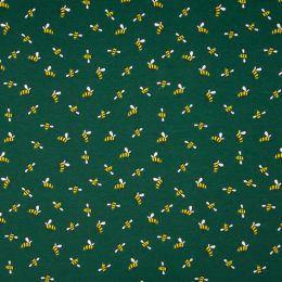 Jersey Cotton Fabric | Bee Dark Green