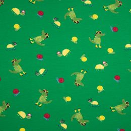 Jersey Cotton Fabric | Funny Croco