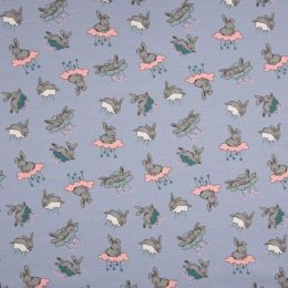 Jersey Cotton Fabric | Bunny Cloud