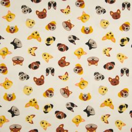 Jersey Cotton Fabric | Dogs Off White