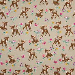 Jersey Cotton Fabric | Baby Deer Sand