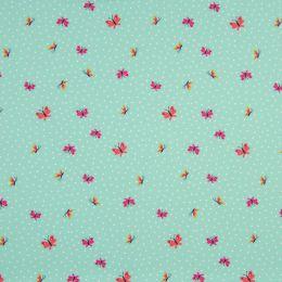 Jersey Cotton Fabric | Butterfly Dusty Mint